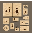 Business cards collection for your design vector image