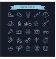 camping summer icons set vector image