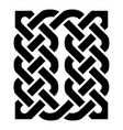 celtic knotted rectangle symbol in black vector image