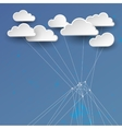 Cloud networking concept vector image