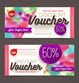 Discount voucher template multicolor bright design vector image