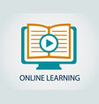 icon online study vector image