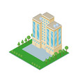 isometric building 3d vector image