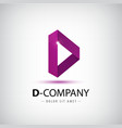 Letter D logo Alphabet logotype design vector image