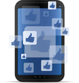 mobile social networking vector image