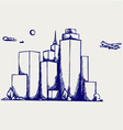 Panoramic city vector image