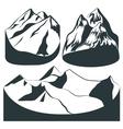 Set background mountains rocks landscape vector image