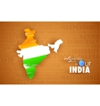 Tricolor Indin Map vector image