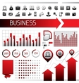 Set of infographics and business icons vector image vector image