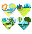 summer holiday hearts vector image vector image