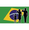 Brasil soldier family salute vector image