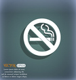 no smoking icon symbol on the blue-green abstract vector image