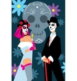 People in carnival costumes to Mexican festival vector image