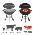Barbecue elements set vector image