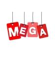 colorful hanging cardboard Tags - mega vector image