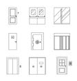 Doors line icons vector image