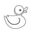 ducky cute cartoon vector image