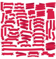 pink ribbons set vector image