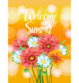 poster advertising of spring flowers Gerber vector image