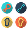 set flat icons of climbing equipment vector image