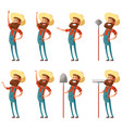 set of farmer icons3 vector image