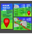 Tri Fold Brochure Design vector image