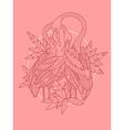 Flamingo bird tattoo design vector image