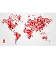 Global AIDS Map vector image vector image