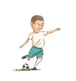 football player running with the ball vector image vector image