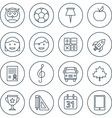 School and education flat design icons set vector image