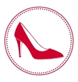 Vintage women shoe label vector image