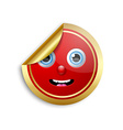 Smiling face sticker vector image vector image