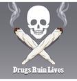 anti drug poster vector image
