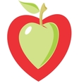 Apple heart vector image