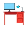 Office Desk vector image