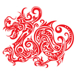 Chinese New Year Dragon Icon Paper Cut vector image