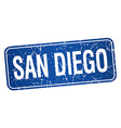 San Diego blue stamp isolated on white background vector image