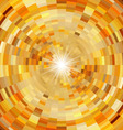 Abstract orange mosaic background vector image