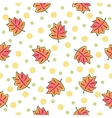 Autumn leaves pattern on white background vector image