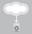 cloud computing into harddrive vector image