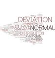 deviation word cloud concept vector image