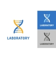 DNA logo Technology biology icon vector image