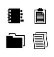 documents simple related icons vector image