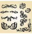 calligraphy ornament set 1 vector image vector image