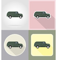 old retro transport flat icons 10 vector image
