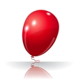 Colorful red balloon element for holiday vector image vector image