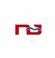 Letter NJ Logo vector image