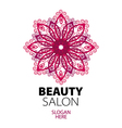 abstract logo lace for beauty salon vector image vector image