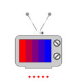 old tv it is icon vector image