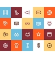 Movie industry and cinema icons Flat vector image